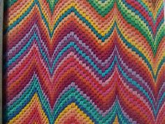 Bargello; without a twist, contrasting colors are a nice option