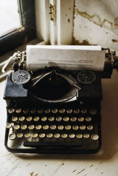 """""""If this typewriter can't do it, then fuck it, it can't be done."""" -Tom Robbins"""