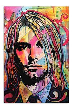 Kurt Cobain - Left at Exit like Hendrix, Basquiat, et al. Riding out to - mbj Musik Illustration, Portrait Art, Portraits, Rock And Roll, Kurt Cobain Art, Grunge Tattoo, Digital Foto, Street Art, Music Artwork