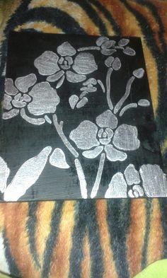 Stencilled  orchidea picture