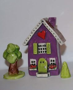 Purple clay house