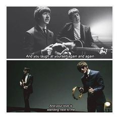 """wakemeupat505/2016/10/29 14:20:05/10 days of TLSP day #2 """"Favourite Video Clip"""" 📽🎼 everything about this video is perfect; starting with fetus milex, their beatles resemblance, and the lyrics of the song. ❤️✨ #10daysoftlsp #thelastshadowpuppets #tlsp #standingnexttome #fetus #milex #alexturner #mileskane #favourite #video #alternative #indie #rock #music #song #acoustic #guitars #lyrics #suits #l4l"""