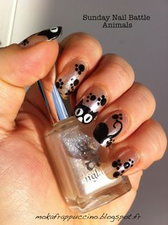 Sunday Nail Battle Animals - Kitty Cat!