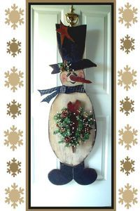 "Primitive Wood Craft Pattern ""casen Snowman"""