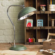 Green pharmacy desk lamp: great looking lamp... only available in the UK
