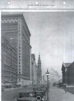 Michigan Ave. looking north, in Chicago in1919. Look at those old cars!!!! My thanks to a woman named Anne.