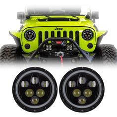 Our Jeep Wrangler Halo LED projector headlights are the best upgrades for your stock 7 inch lights. These fit directly on the Wrangler JK, TJ, LJ & CJ. Jeep Mods, Jeep Tj, Jeep Wrangler Rubicon, Jeep Truck, Car Mods, Wrangler Sport, Lifted Trucks, Chevy Trucks, Pickup Trucks