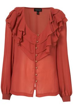 rust colored blouse from Top Shop