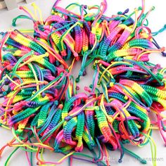 Summer Friendship Bracelets Fluorescence Braid Cord Strand Bracelets Wedding Bracelets | Buy Wholesale On Line Direct from China