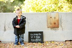 """""""I'M GOING TO BE A BIG BROTHER."""" Announcement."""