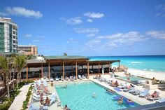 Secrets The Vine - view of pool, hot tub, bar, sea salt grill