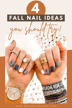 I think fall might be my favorite time of year! I'd love to share with you 4 fall nail ideas that you really need to try! Here is my step by step guide on how I do them! And I'll even share with you my favorite mani ever! #fallnails #nailideas #nailart #maniathome