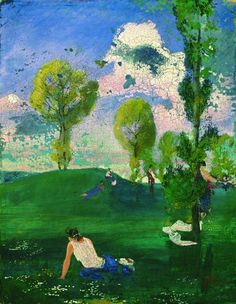 August Macke - Landschaft mit antiken Figuren, 1904