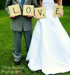 This wedding incorporated the game of Scrabble several ways since it is a game special to the bride and groom. https://www.facebook.com/pages/Trinity-Bennett-Photography-and-Productions/201646339851533