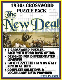 Crash course economics worksheets fifteen episode bundle make history fun with this set of seven new deal puzzle worksheets each of the fandeluxe Image collections