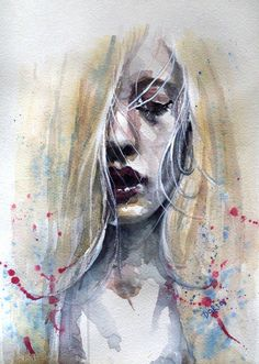 Dark room -  Daria is an artist from Ukraine who created sweet watercolor paintings.