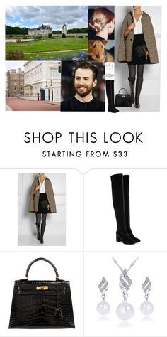 """""""Diane and Henry leaving Bourbon Castle for London moving in with Henry in Clarence House apartment accompanied by her dog Marcel"""" by pacqueline-ngoya ❤ liked on Polyvore featuring Therapy, Yves Saint Laurent, Hermès and Vera Wang"""