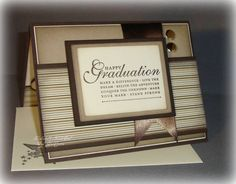 Graduation card; I think the sentiment is Stampin' Up; I also like the underlying sketch.