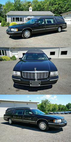 1998 Cadillac Deville Superior Coach Statesman Hearse [very good shape] Cadillac, Shape, Black, Black People