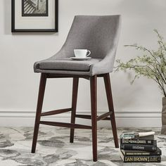 Perfect Corbel Mid Century Counter Chair, Set Of 2 HomeHills Counter Height (18 To  26