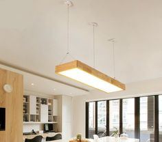 Home Office Lamps, Wood Ceilings, Led, Pendant Lamp, Wooden Frames, Solid Wood, Japanese, Ceiling Lights, Lighting