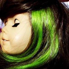 "American Girl Doll Hair Highlights Add on ""Apple Green"" USA Seller   eBay"