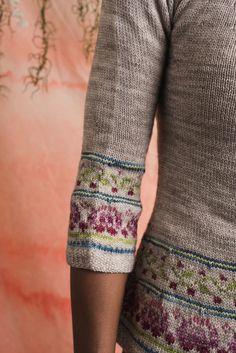 Ravelry: Raspberry Rose Sweater pattern by bunnymuff, Mona Zillah Knitting Machine Patterns, Sweater Knitting Patterns, Linen Stitch, Slip Stitch, Crochet Woman, Knit Crochet, Rose Sweater, Knitting Magazine, Bind Off