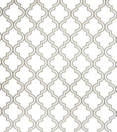 Home Decor Sheer Fabric-Eaton Square Chicks-Grey Medallion, , hi-res