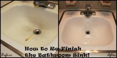 Great pin on refinishing an old sink.