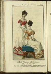 Petit Courrier des Dames : annonces des modes, des nouveautés et des arts del 10 de Marzo de 1822
