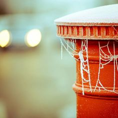 An icy Post Box