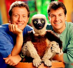 Zaboomafo!!! My daughter loved this show!!  She would swing around her playpen like the lemur!!