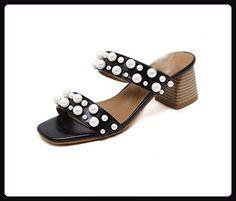 Offene Sandalen Frauen das Wort drag beiläufige Komfortschuhe wilden Sandalen , black , US6 / EU36 / UK4 / CN36 - Sandalen für frauen (*Partner-Link)