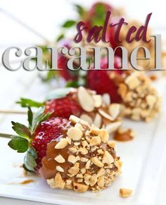 Salted Caramel Covered Strawberries ~ https://steamykitchen.com