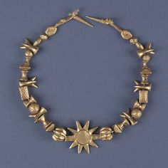 Asante necklace via The Royal Ontario Museum