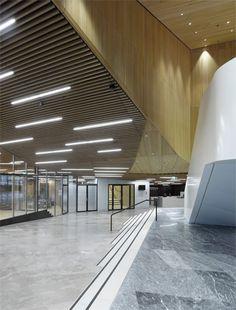 WIPO Conference Hall by Behnisch Architekten in Geneva, Switzerland