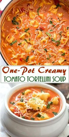 Sausage Tortellini Soup made in an Instant Pot is delicious and easy to make. A bowl of Creamy Tomato based broth, Sausage, Cheesy soft Tortellini and a generous sprinkle of parmesan is filling and flavourful. Easy Soup Recipes, Crockpot Recipes, Cooking Recipes, Healthy Recipes, Vegitarian Soup Recipes, Soup Recipes With Chicken, Recipes With Avocado, Easy Crockpot Soup, Healthy Chicken Soup