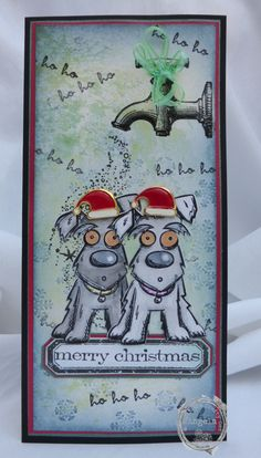 Another great stamp from Tim Holtz, look just like Maisie and Stan!