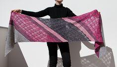 Waves and Stripes by Felicia Di Bono | malabrigo Arroyo in Natural, Plomo and English Rose