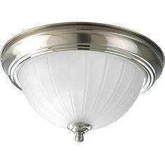 "Progress Lighting P3816-EB 11-3/8"" Single Light Flush Mount Ceiling Fixture"