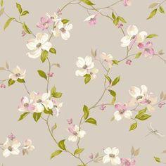 Botanical Fantasy AK7430Dogwood Wallpaper