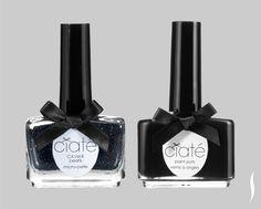 Ciaté Caviar Manicure in Black Pearls. #Colorblock #Sephora
