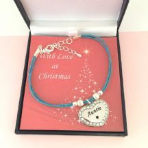 Personalised Turquoise Cord Bracelet for Christmas