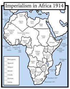 European Imperialism in Africa Map Handout | High school ...