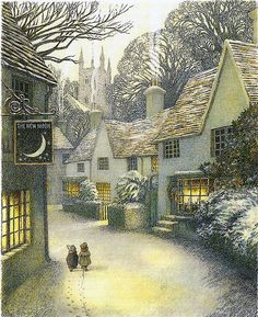 """windypoplarsroom: Inga Moore """"The Wind in the Willows"""" To my dear friend Aputsiaq, Mette."""