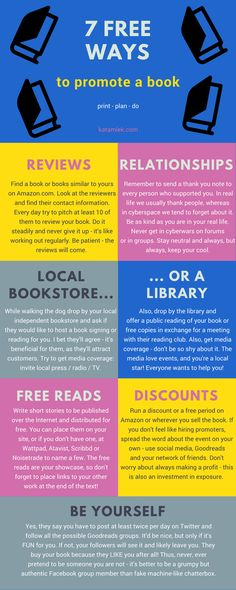 7 ways to promote a book for free
