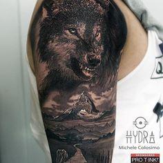 Repost : @michelecol90 13 hours of work. @pro_t_ink  @armyztattoomachines  For info hydraskindesign@gmail.com  #tattoo #tattoos #wolf #blackandgreytattoo #tattoostation #ink #inked #inkedup #intenzeink #intenzepride #sullen #inkedmag #inkedmagazine  #tattooed #tattooing #tattooart #capitanhook #tattooartist #tattoodo #blackswan #follow #followme #evo24 #evo10 #protink #sponsored Repost : @michelecol90