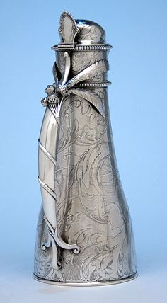 Handle of Gorham Antique Sterling Silver Water Pitcher, Providence, RI - 1886