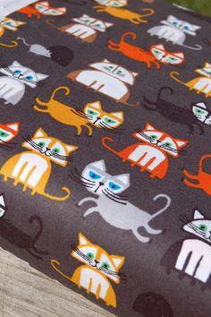 Ed Emberley- Happy Drawing Too-Cloud 9- ORGANIC- Cats-One Yard. $12.50, via Etsy.