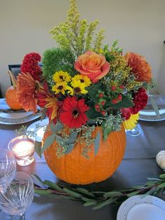 Pumpkin Fall Event Decor - decorate with nature's materials